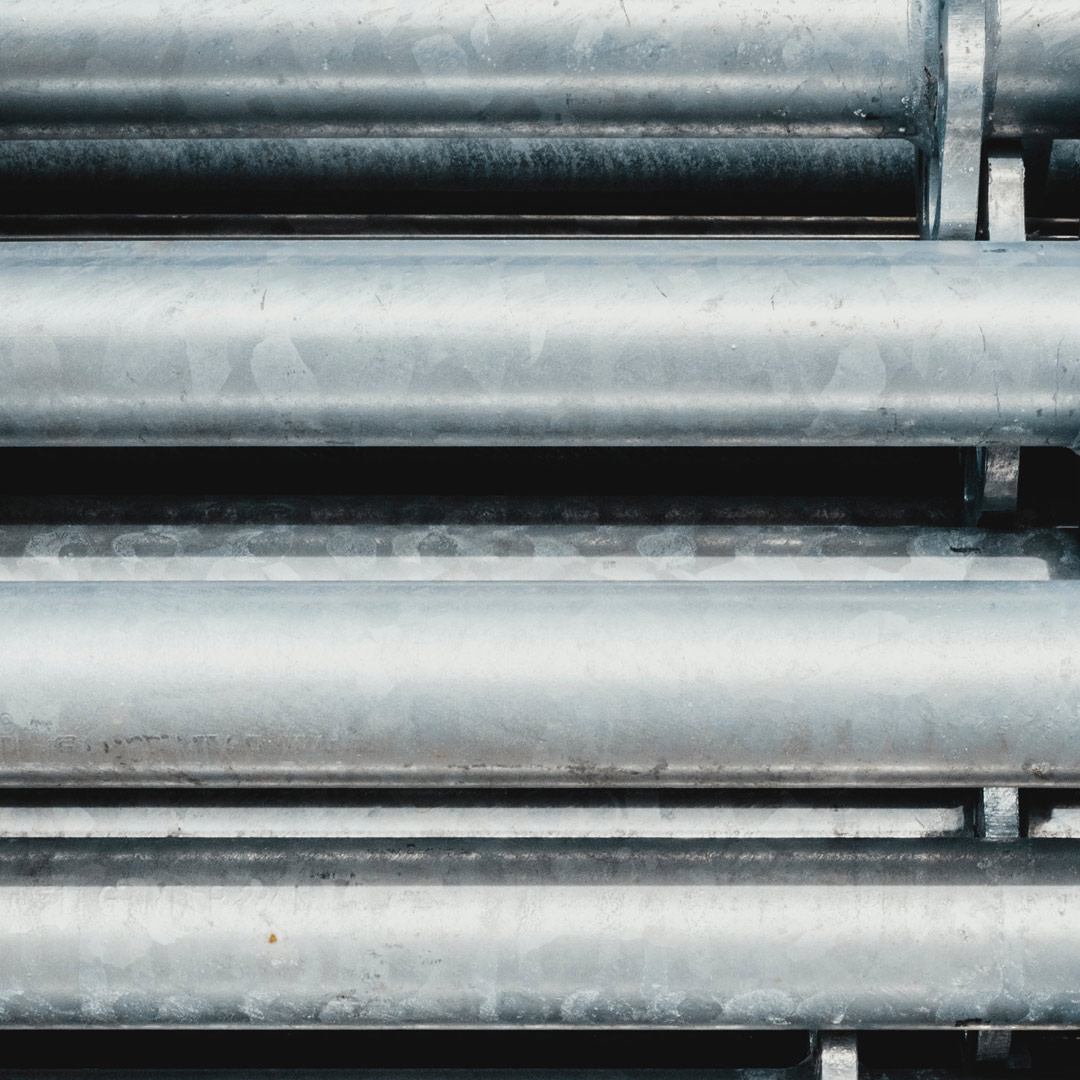 Photo of some newly manufactured pipes